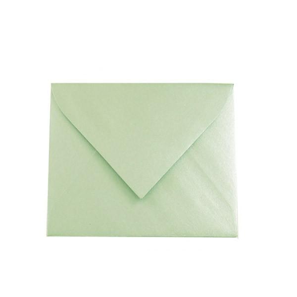 Kuverta ukrasna sjajno zelena metalik 170 x 170mm