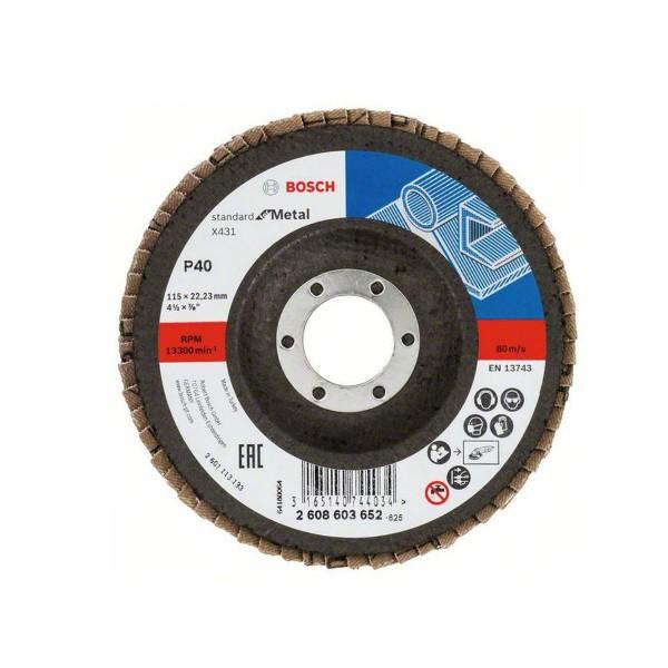 BOSCH - Brusna rezna ploča - X431 - P40 - 115 x 22,23 mm