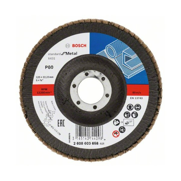 BOSCH - Brusna rezna ploča - X431 - P80 - 125 x 22,23 mm