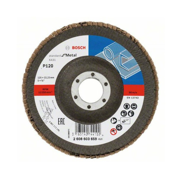 BOSCH - Brusna rezna ploča - X431 - P120 - 125 x 22,23 mm