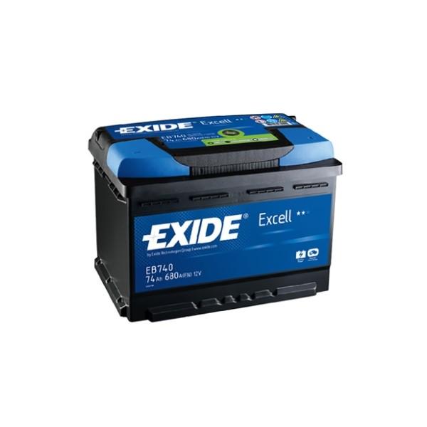 AKUMULATOR EXIDE EXCELL EB740, 74Ah