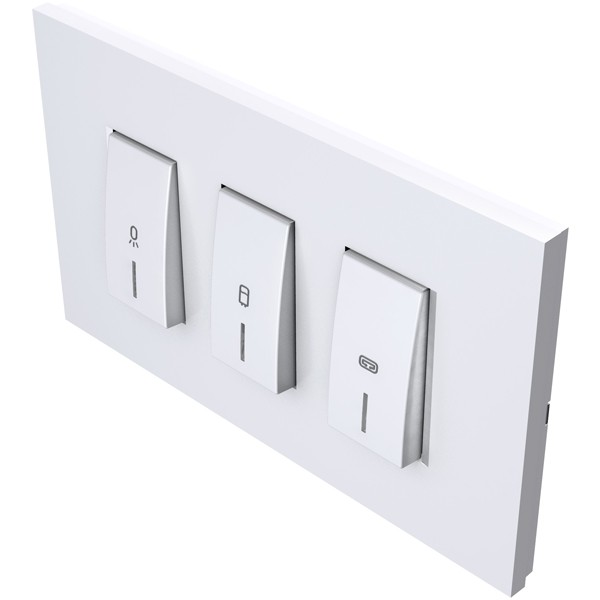 Prekidači za kupaonu s indikatorima 3x20A 250V bijeli