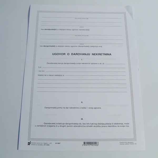 Ugovor o darovanju nekretnina