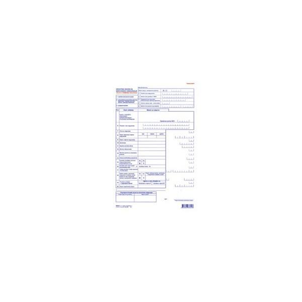 Tiskanica M-1P, Prijava o početku osiguranja
