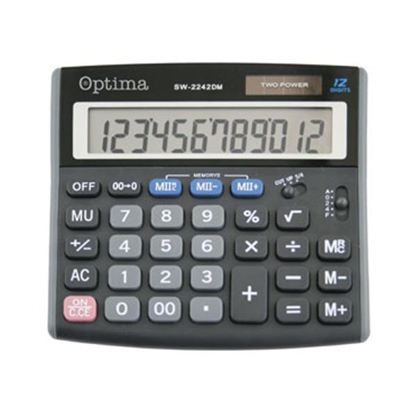 Kalkulator OPTIMA SW-2242DM 12mjesta P60