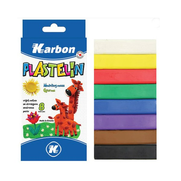 KARBON - Plastelin - 8 boja