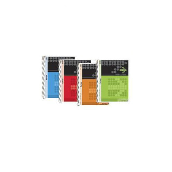 Blok kolegij A4 s perforacijom i 4 rupe, 80 araka, spiralni uvez, crte, narančasti