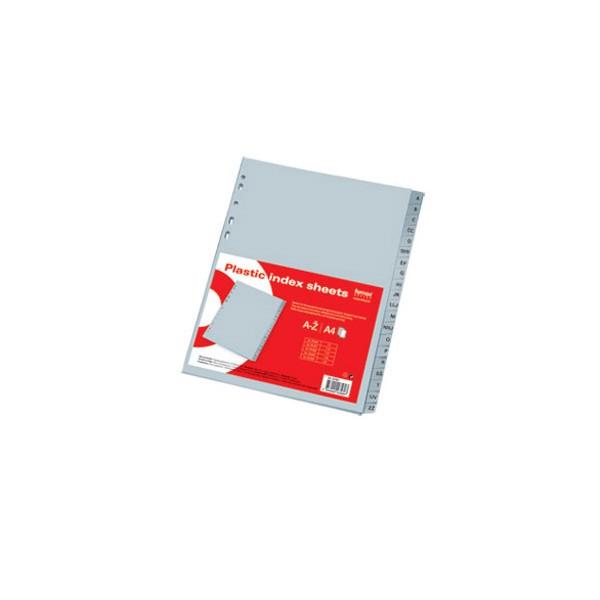 Pregrada plastična A4 A-Ž 20listova Fornax siva