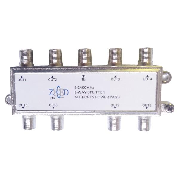Antenski razdjelnik 1 ulaz - 8 izlaza, 5-2400MHz