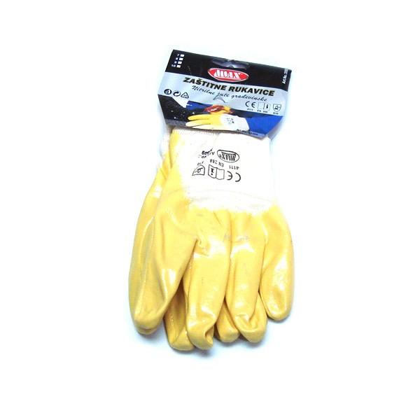 Zaštitne rukavice nitrilne žute V:10