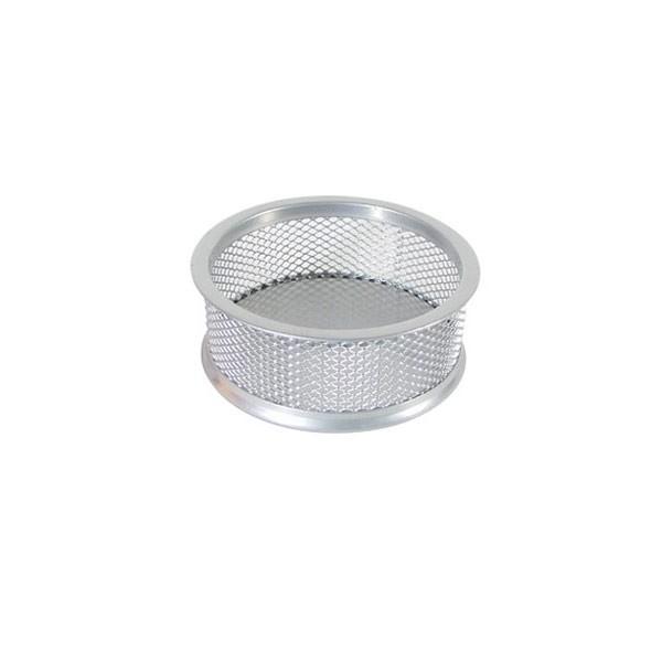 Čaša za spajalice metalna žica fi-9,5xh-3,2cm srebrna
