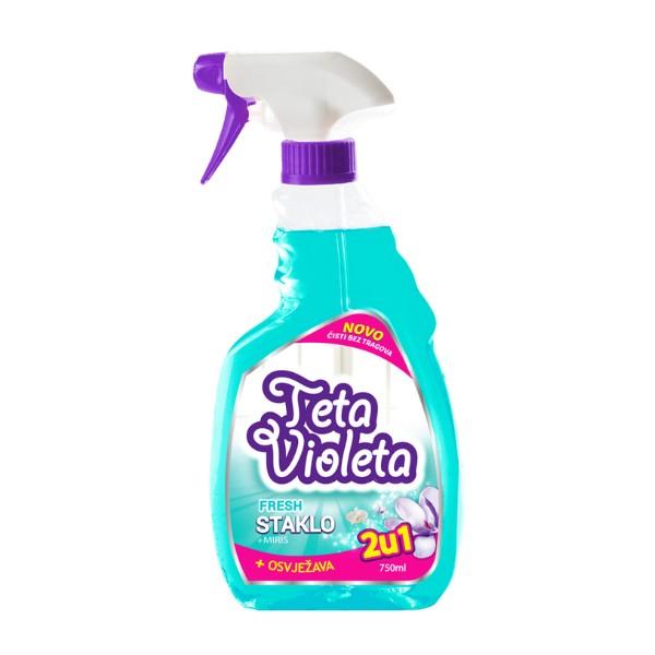 TETA VIOLETA - Sredstvo za čišćenje stakla - Fresh - 2u1 - 750ml