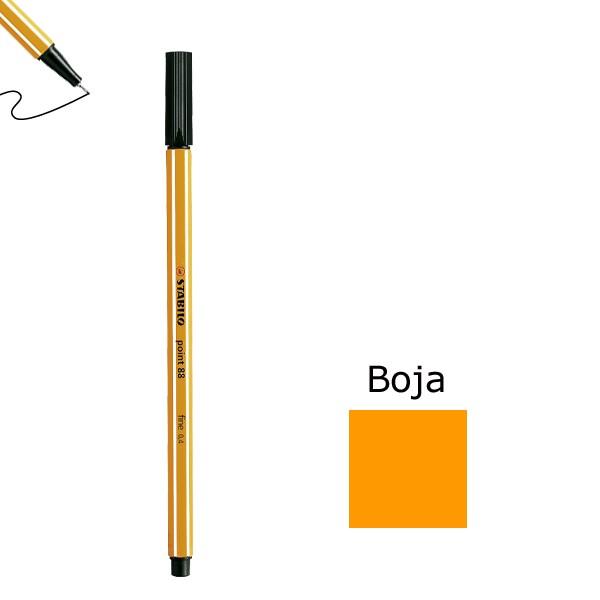 Flomaster STABILO point 88 debljine 0,4  narančasta