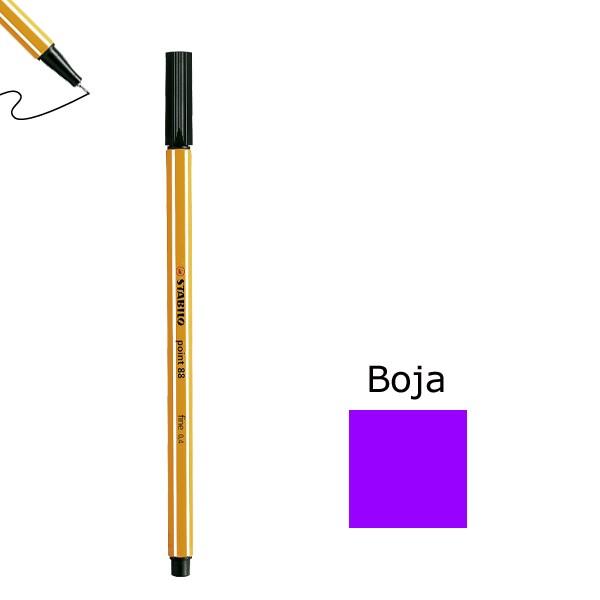 Flomaster STABILO point 88 debljine 0,4  ljubičasta