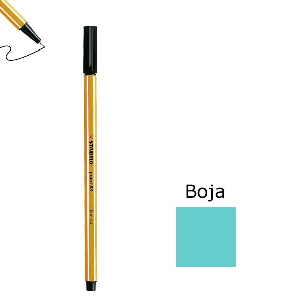 Flomaster STABILO point 88 debljine 0,4  svjetlo plavi