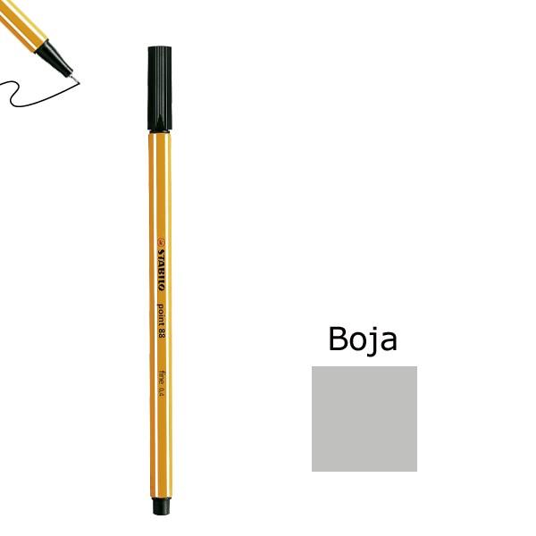 Flomaster STABILO point 88 debljine 0,4  svjetlo sivi