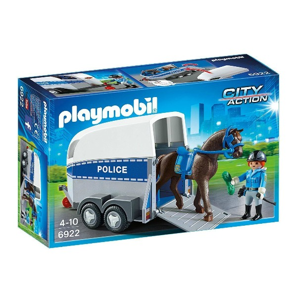 PLAYMOBIL - City Action - Police with Horse and Trailer
