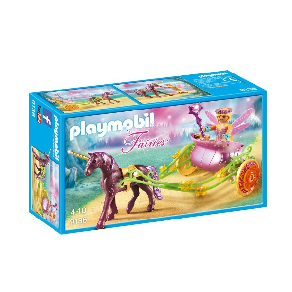 PLAYMOBIL Fairies - Unicorn Drawn Fairy Carriage