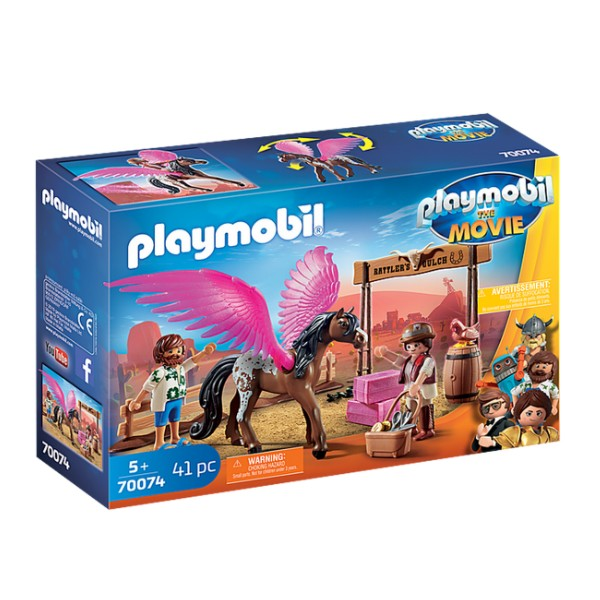 PLAYMOBIL: The Movie - Marla and Del with Flying Horse