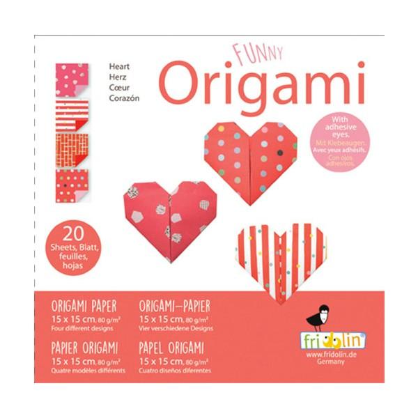 FUNNY ORIGAMI - 15x15 - Srce