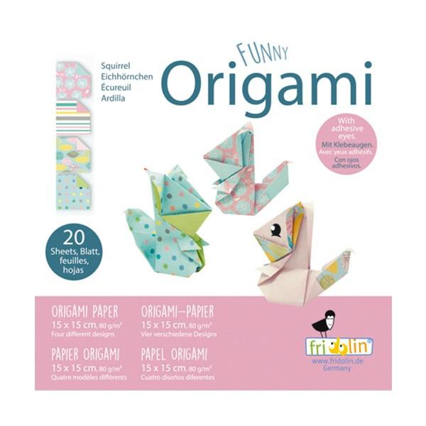 FUNNY ORIGAMI - 15x15 - Vjeverica