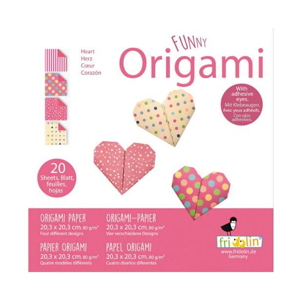 FUNNY ORIGAMI - 20x20 - Srce