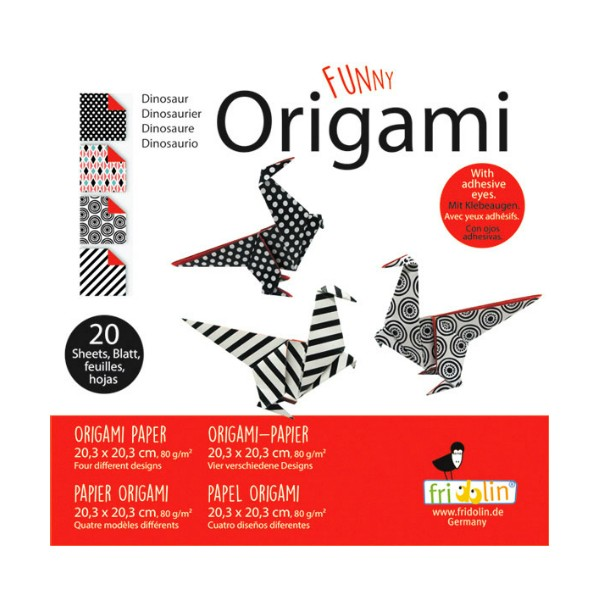 FUNNY ORIGAMI - 20x20 - Dinosaur