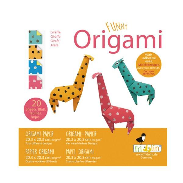 FUNNY ORIGAMI - 20x20 - Žirafa