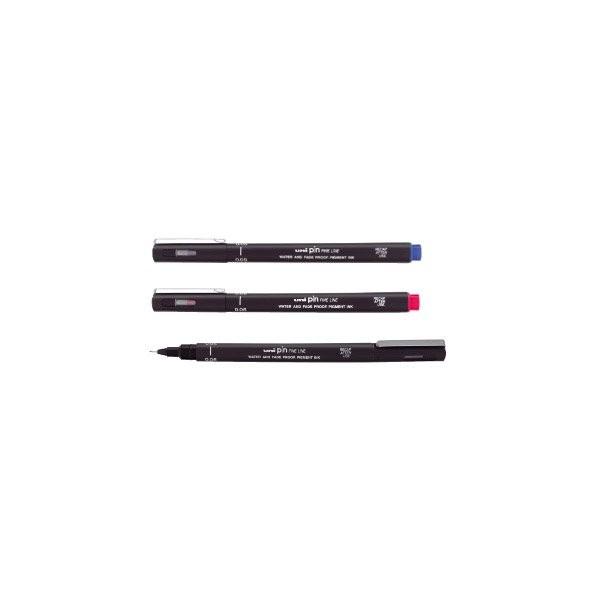 Fini marker Uni, crni, 0.1mm