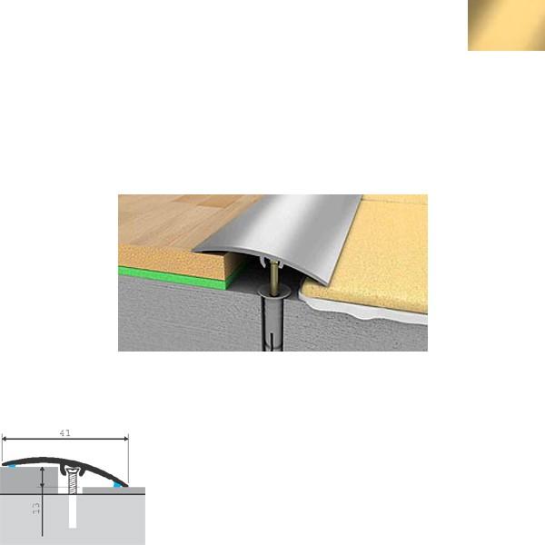 Aluminijska lajsna prijelazna 90cmx41x13mm zlatna