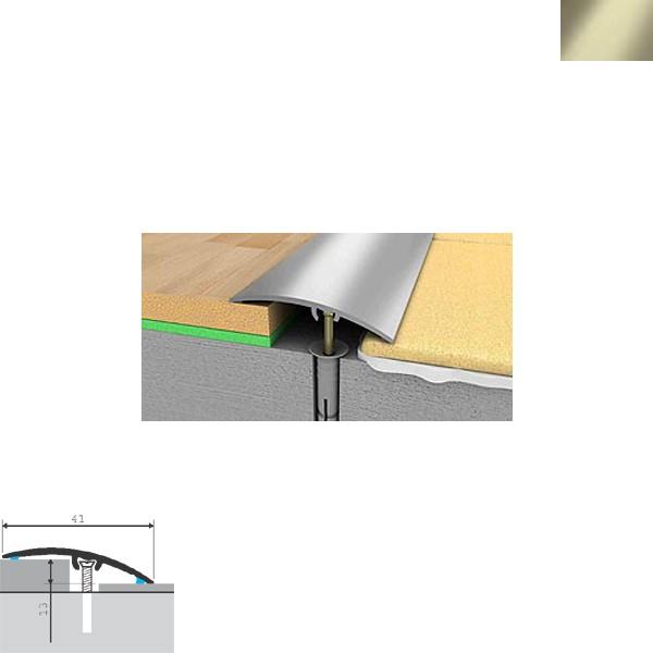 Aluminijska lajsna prijelazna 90cmx41mmx13mm titan