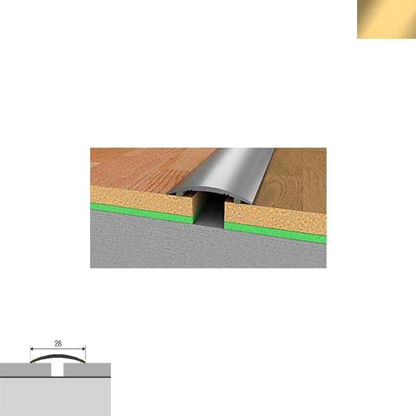 Aluminijska lajsna prijelazna 90cmx28mm zlatna samoljepljiva