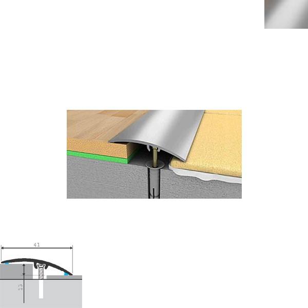 Aluminijska lajsna prijelazna 270cmx41mmx13mm srebrna