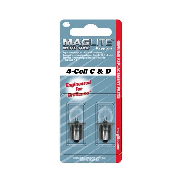 MAGLITE - 4-Cell C&D - Rezervna žaruljica - 2 kom