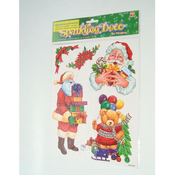 Božićna dekoracija za staklo naljepnice na arku 23x28cm