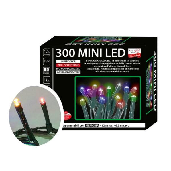 LED Mini žaruljice za bor - 300/1 - Multicolor s funkcijama - Vanjske