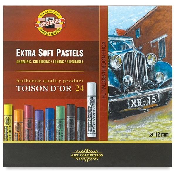 Koh-I-Noor Toison D'or extra mekane (suhe) pastele, set 24 komada