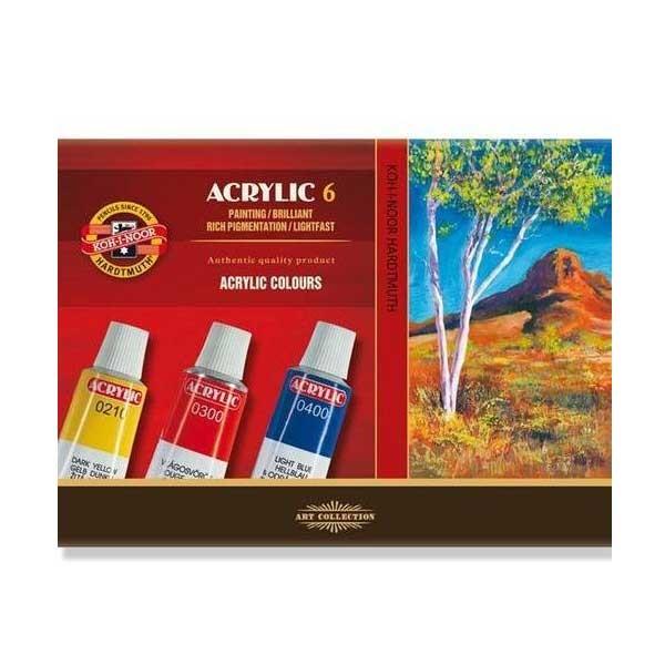 KOH-I-NOR set akrilnih boja 6 x 16ml