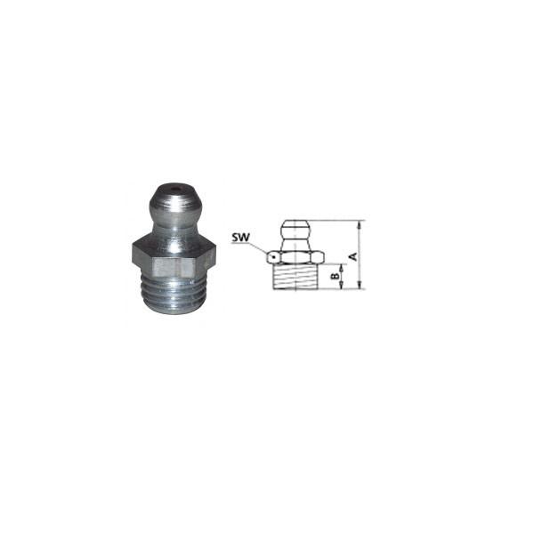 HIDRAULIČNA MAZALICA H1,RAVNA M8 x 1, VZ, SK, SW 9mm