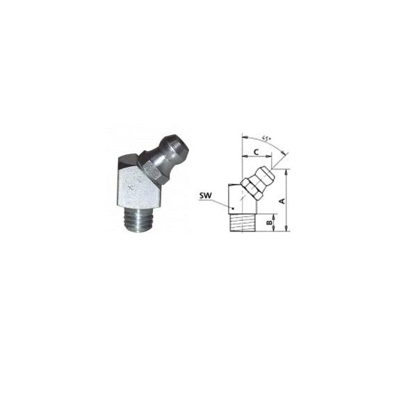 HIDRAULIČNA MAZALICA H2, 45°M8 x 1, SFG, VZ, VK, SW 9mm