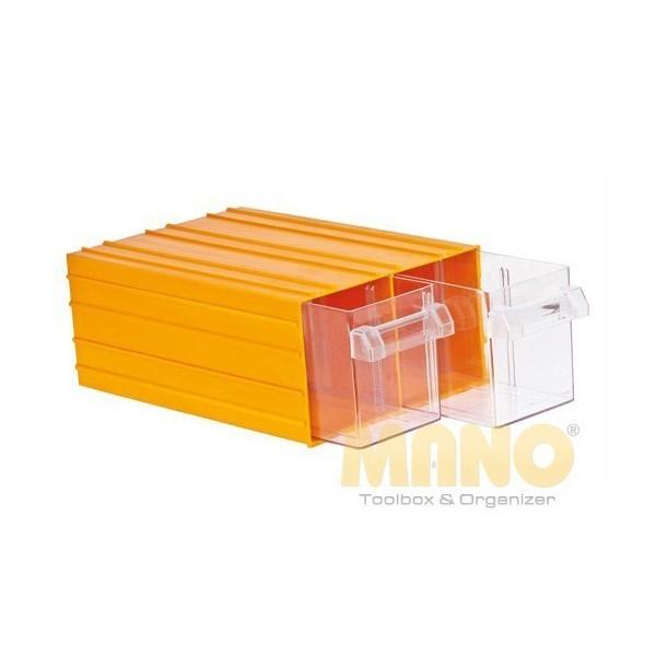 K-56 - MANO - Kutija za alat - Žuta - 2 ladice
