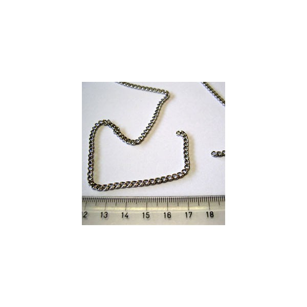 Metalni lančić za nakit, platina 3mm, 1m