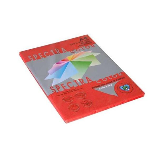 Papir fotok.SPECTRACOLOR A4 int.crveni RED 80gr.100araka