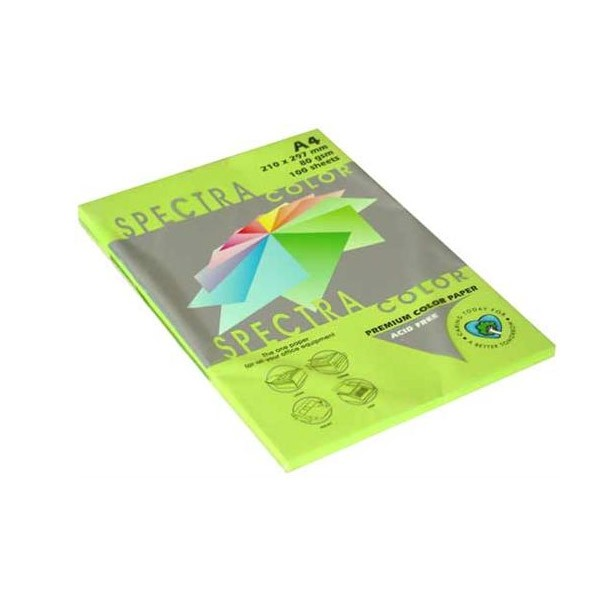 Papir fotok.SPECTRACOLOR A4 fluo zeleni CHP GREEN 80gr.100araka