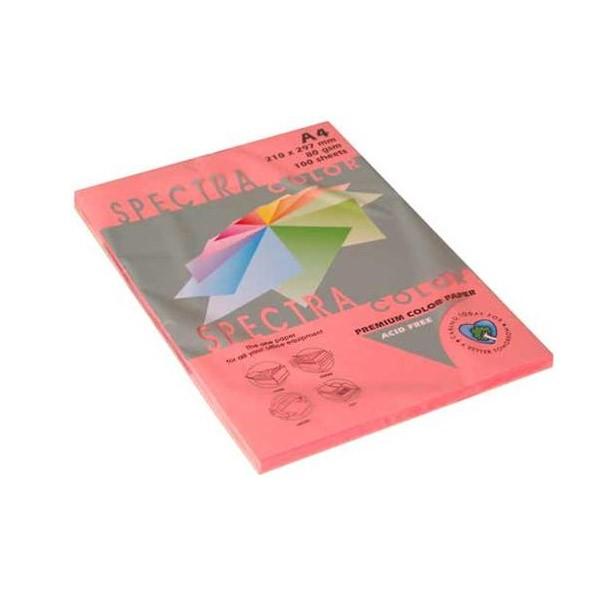 Papir fotok.SPECTRACOLOR A4 fluo rozi CHP PINK 80gr.100araka