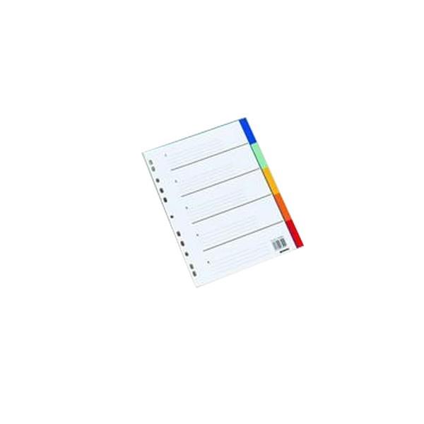 Pregradni karton A5 u 5 boja
