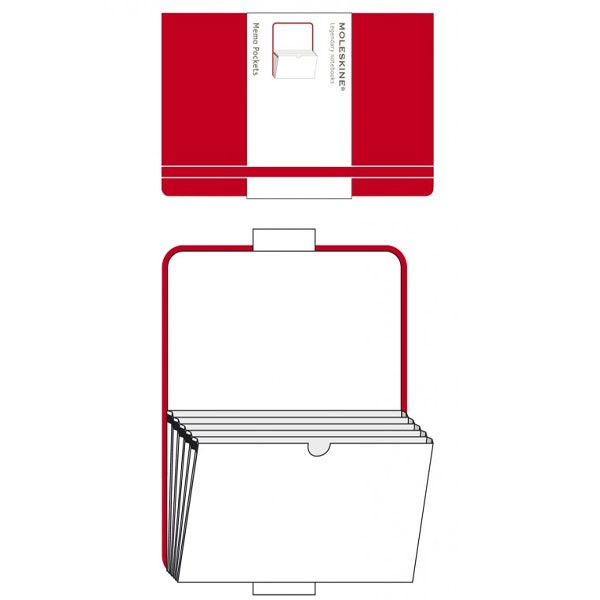 Memo džepovi crveni 9x14cm