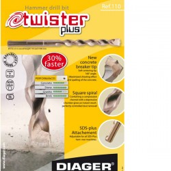 DIAGER Twister plus PROFI SDSplus svrdlo za beton 10x110mm