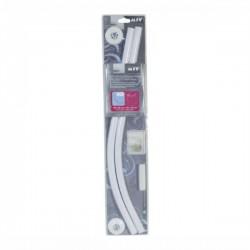 MSV - Bijeli aluminijski zaobljeni nosač zavjese za tuš kabinu - 80 x 80 cm / 90 x 90 cm