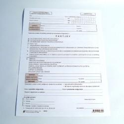 Zahtjev - samostalni obveznik doprinosa, tiskanica SOD